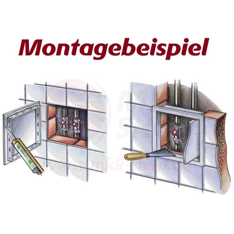 Revisionsklappe Revisionst/ür Wartungst/ür Revision Kunststoff wei/ß Buche braun 250 x 330 wei/ß