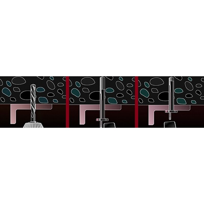 100 Stk Deckennagel Deckendorn Deckenanker Deckendorn Anker 6 x 40 mm DN 40