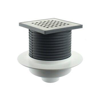bodenablauf mit siphon r ckstauklappe dn 50 18 90. Black Bedroom Furniture Sets. Home Design Ideas