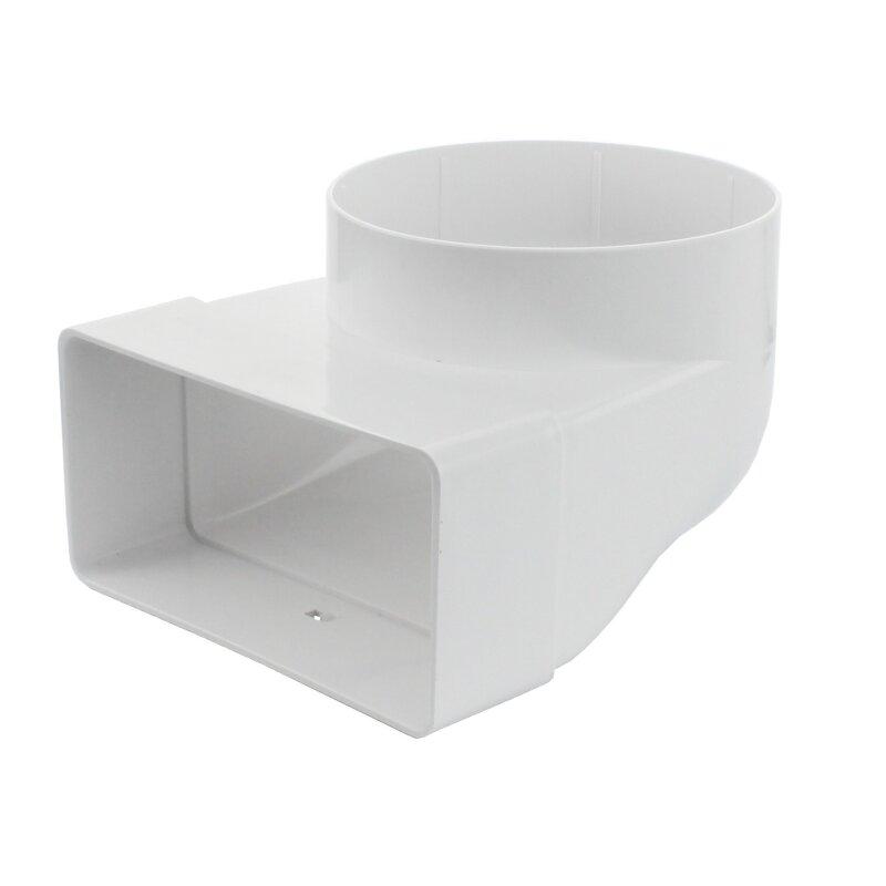 kanal rohrverbinder 90 systeme flachkanal 60x120 dunstabzugshaub. Black Bedroom Furniture Sets. Home Design Ideas