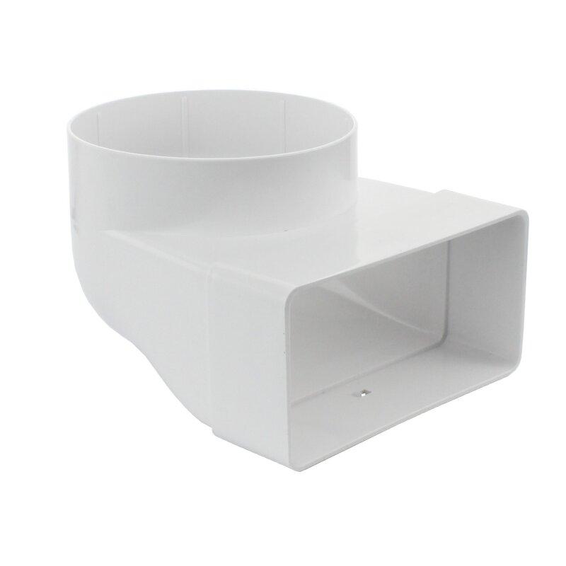 kanal 90 rohrverbinder systeme flachkanal 60x204 dunstabzugshaub. Black Bedroom Furniture Sets. Home Design Ideas