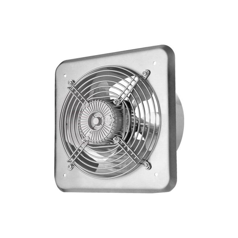 Industrial Kitchen Extractor Fan: Axial Ventilator Mit Edelstahlfront Und Schutzgitter, 54,90
